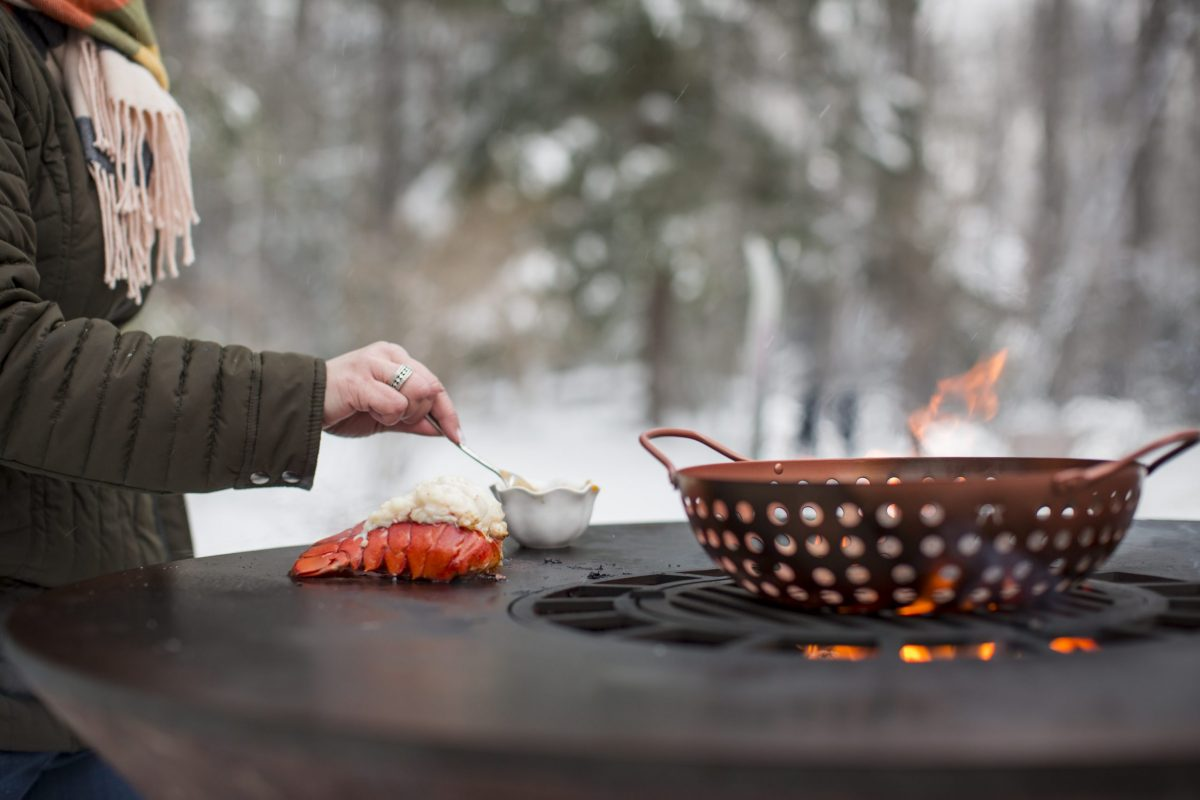 Winter grilling on the Arteflame Classic 40