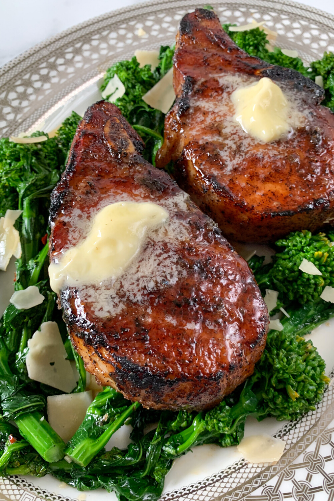 Smoked Sweet and Spicy Pork Chops