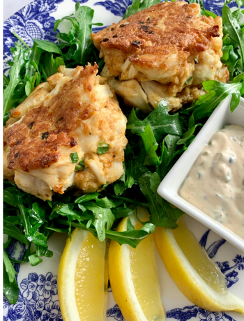 Crab Cakes with Lemon Caper Sauce