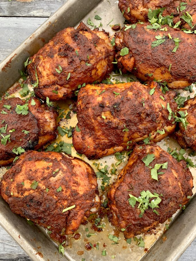 Pollo asado chicken thighs
