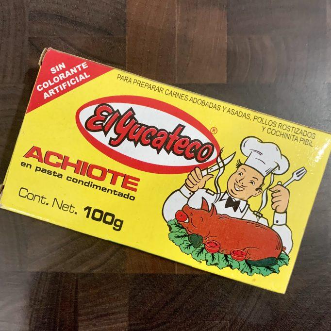 Achiote paste or Annatto paste
