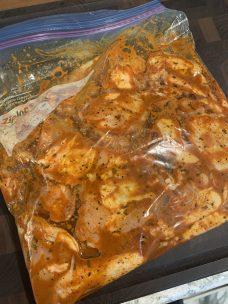 Marinate chicken in refrigerator