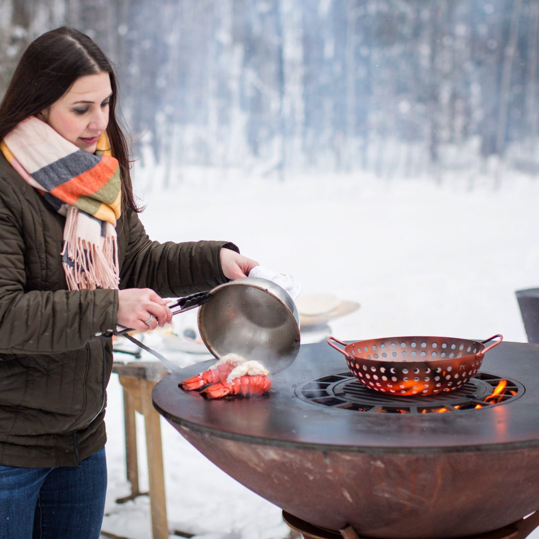 Melissa Reome grilling on the Arteflame Classic 40