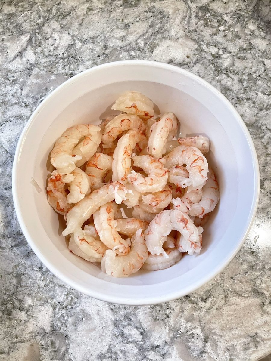 Defrosted Red Argentinian Shrimp From Omaha Steaks (Raw)