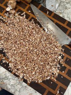 Chopping Mushrooms For Duxelles