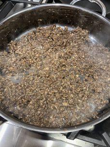 Sauteing Mushrooms, Shallots, Garlic