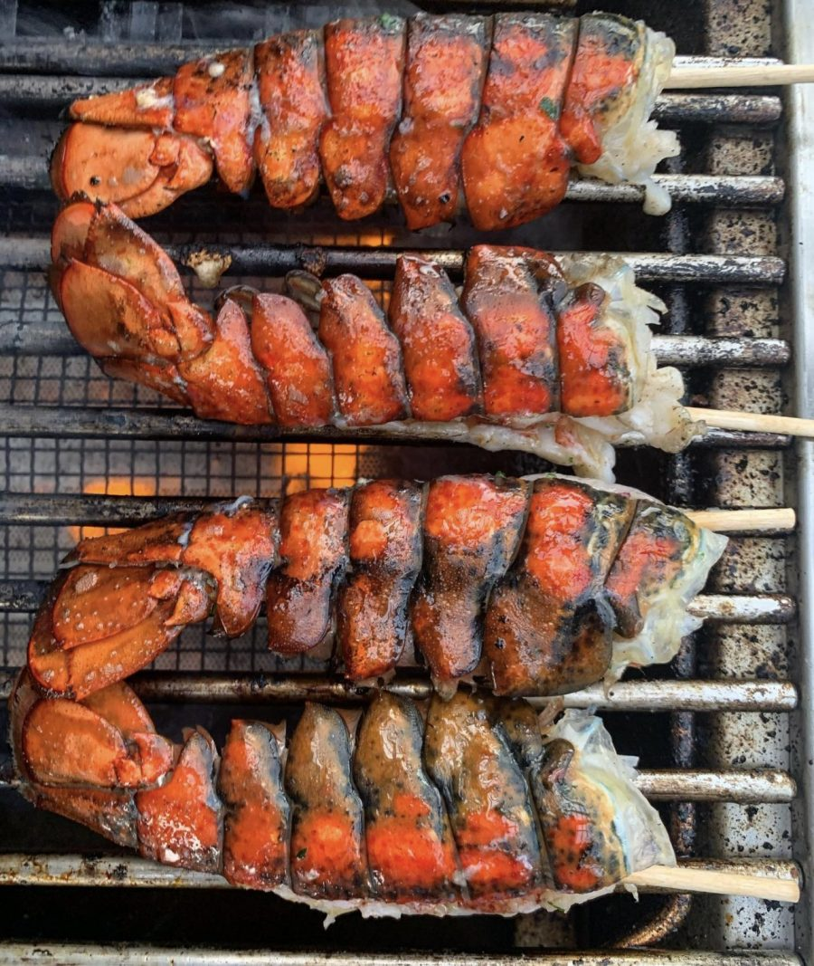 Grilled Lobster Tails on Aspire by Hestan Grill