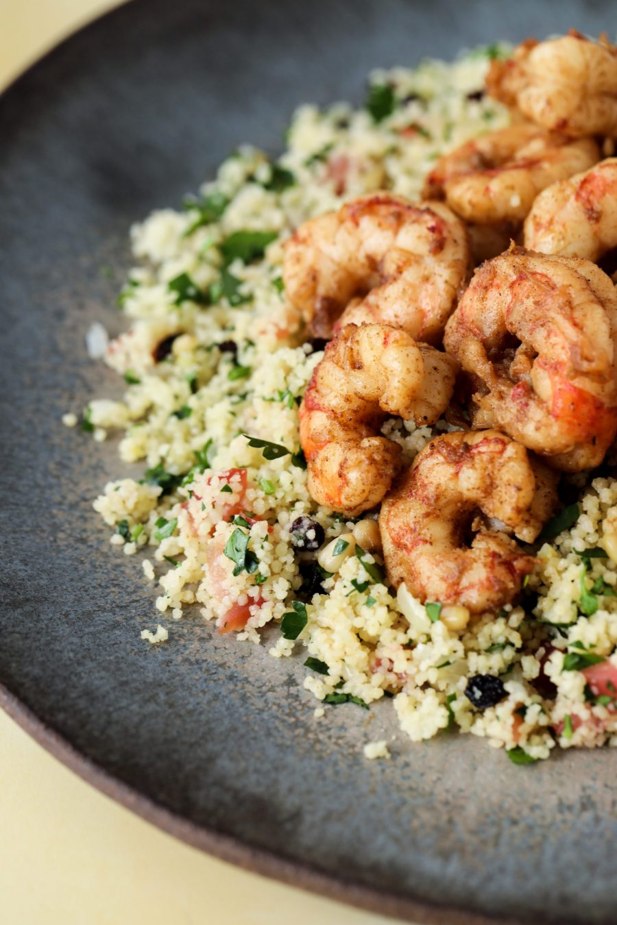 Picture of shrimp with couscous