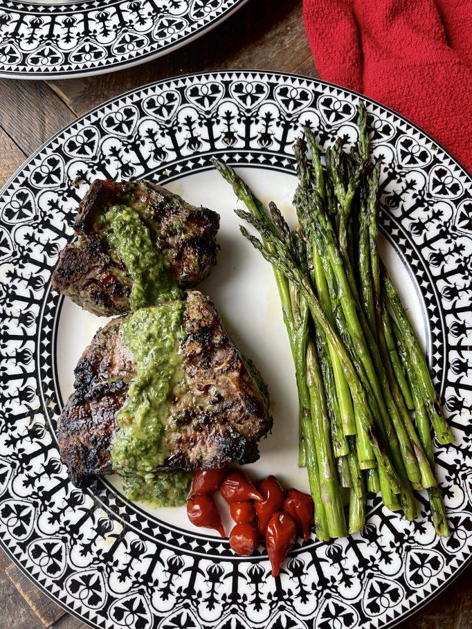 Grilled Chimichurri Lamb Chops
