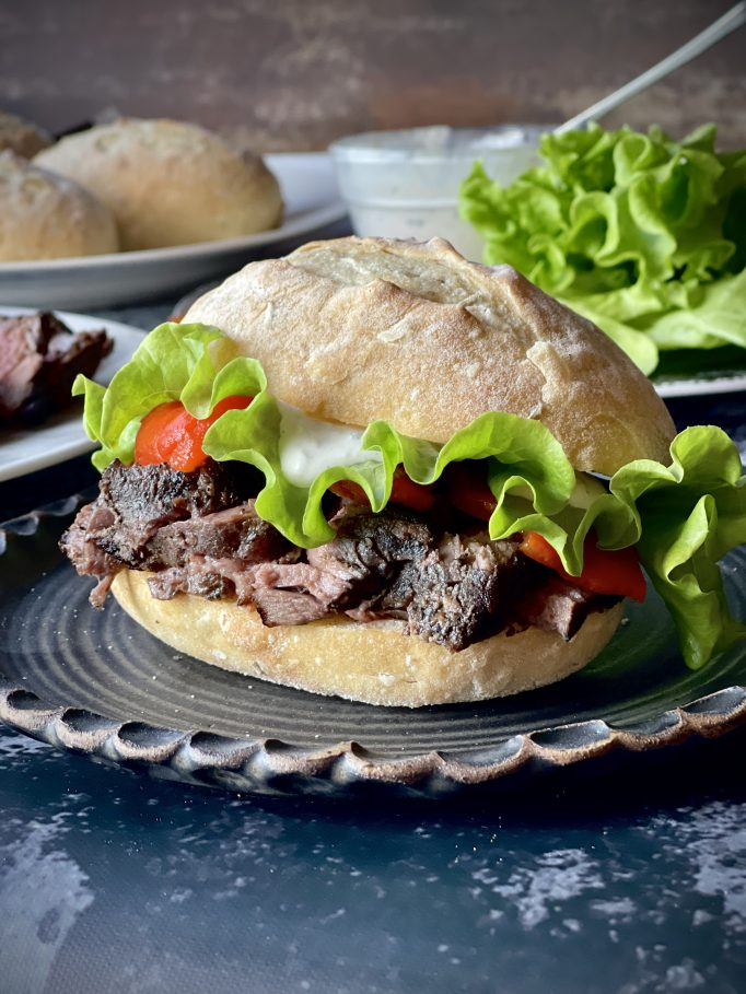 Grilled Steak Sandwich With Horseradish Sauce